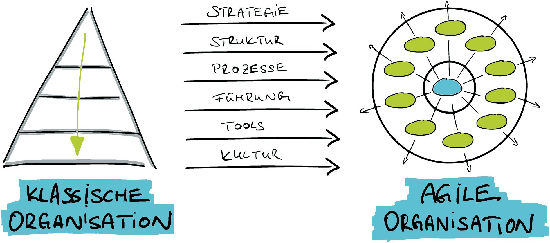 Klassische und Agile Organisation